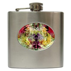 Background Art Abstract Watercolor Hip Flask (6 Oz) by Nexatart