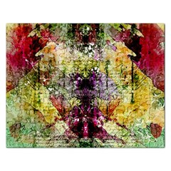 Background Art Abstract Watercolor Rectangular Jigsaw Puzzl by Nexatart
