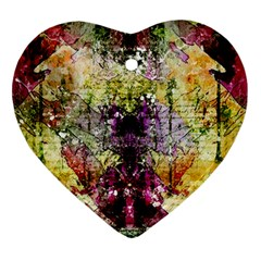 Background Art Abstract Watercolor Heart Ornament (two Sides)