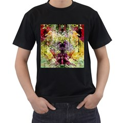 Background Art Abstract Watercolor Men s T Shirt (black)