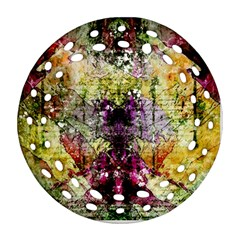 Background Art Abstract Watercolor Round Filigree Ornament (two Sides) by Nexatart