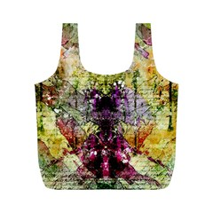 Background Art Abstract Watercolor Full Print Recycle Bags (m)