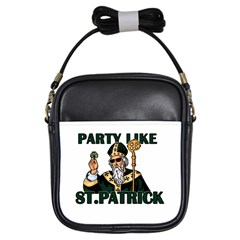 St  Patricks Day  Girls Sling Bags by Valentinaart