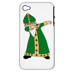 St  Patrick  Dabbing Apple Iphone 4/4s Hardshell Case (pc+silicone) by Valentinaart