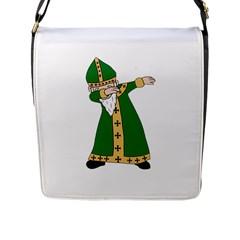 St  Patrick  Dabbing Flap Messenger Bag (l)  by Valentinaart