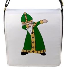 St  Patrick  Dabbing Flap Messenger Bag (s) by Valentinaart