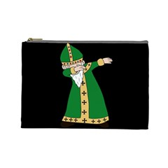 St  Patrick  Dabbing Cosmetic Bag (large)  by Valentinaart