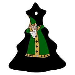 St  Patrick  Dabbing Ornament (christmas Tree)  by Valentinaart