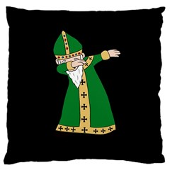 St  Patrick  Dabbing Large Cushion Case (two Sides) by Valentinaart