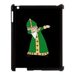 St  Patrick  Dabbing Apple Ipad 3/4 Case (black) by Valentinaart
