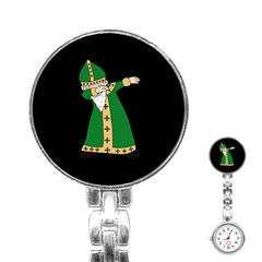 St  Patrick  Dabbing Stainless Steel Nurses Watch by Valentinaart