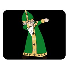 St  Patrick  Dabbing Double Sided Flano Blanket (large)  by Valentinaart