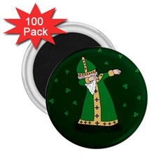 St  Patrick  Dabbing 2 25  Magnets (100 Pack)  by Valentinaart