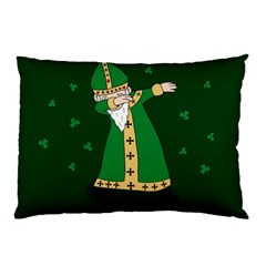 St  Patrick  Dabbing Pillow Case (two Sides) by Valentinaart