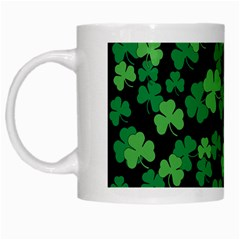 St  Patricks Day Clover Pattern White Mugs by Valentinaart