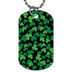 St  Patricks Day Clover Pattern Dog Tag (two Sides) by Valentinaart