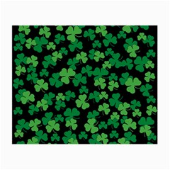 St  Patricks Day Clover Pattern Small Glasses Cloth by Valentinaart