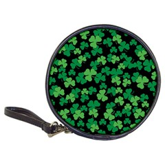 St  Patricks Day Clover Pattern Classic 20 Cd Wallets by Valentinaart