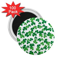 St  Patricks Day Clover Pattern 2 25  Magnets (100 Pack)  by Valentinaart