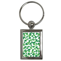 St  Patricks Day Clover Pattern Key Chains (rectangle)  by Valentinaart