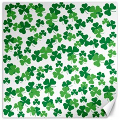 St  Patricks Day Clover Pattern Canvas 16  X 16   by Valentinaart