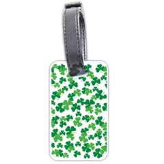 St  Patricks Day Clover Pattern Luggage Tags (two Sides) by Valentinaart