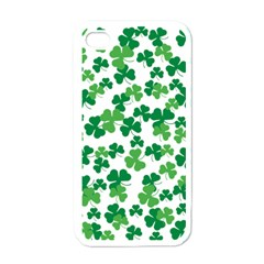 St  Patricks Day Clover Pattern Apple Iphone 4 Case (white) by Valentinaart
