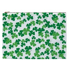 St  Patricks Day Clover Pattern Cosmetic Bag (xxl)  by Valentinaart