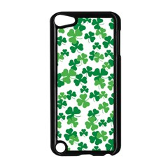 St  Patricks Day Clover Pattern Apple Ipod Touch 5 Case (black) by Valentinaart