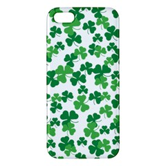 St  Patricks Day Clover Pattern Apple Iphone 5 Premium Hardshell Case by Valentinaart