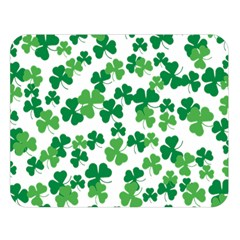 St  Patricks Day Clover Pattern Double Sided Flano Blanket (large)  by Valentinaart