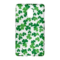 St  Patricks Day Clover Pattern Galaxy Note Edge by Valentinaart
