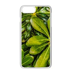 Top View Leaves Apple Iphone 8 Plus Seamless Case (white) by dflcprints