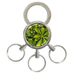 Top View Leaves 3 Ring Key Chains by dflcprints