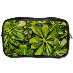 Top View Leaves Toiletries Bags 2 Side by dflcprints