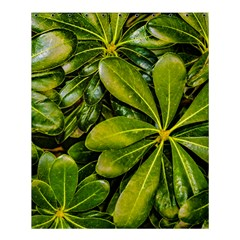 Top View Leaves Shower Curtain 60  X 72  (medium)  by dflcprints