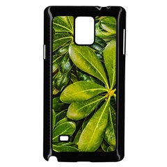 Top View Leaves Samsung Galaxy Note 4 Case (black) by dflcprints