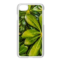 Top View Leaves Apple Iphone 8 Seamless Case (white) by dflcprints
