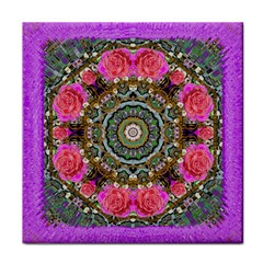 Roses In A Color Cascade Of Freedom And Peace Tile Coasters by pepitasart