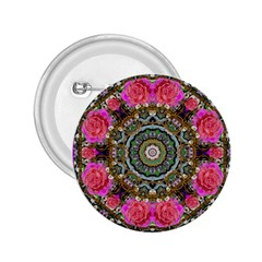 Roses In A Color Cascade Of Freedom And Peace 2 25  Buttons by pepitasart
