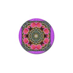 Roses In A Color Cascade Of Freedom And Peace Golf Ball Marker by pepitasart