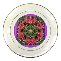 Roses In A Color Cascade Of Freedom And Peace Porcelain Plates by pepitasart