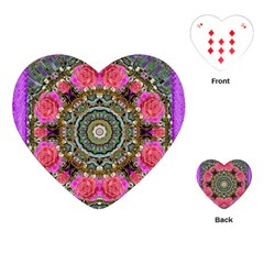 Roses In A Color Cascade Of Freedom And Peace Playing Cards (heart)  by pepitasart