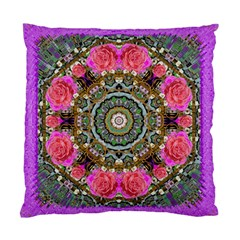 Roses In A Color Cascade Of Freedom And Peace Standard Cushion Case (one Side) by pepitasart