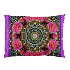Roses In A Color Cascade Of Freedom And Peace Pillow Case by pepitasart