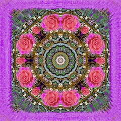 Roses In A Color Cascade Of Freedom And Peace Magic Photo Cubes by pepitasart