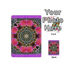 Roses In A Color Cascade Of Freedom And Peace Playing Cards 54 (mini)  by pepitasart