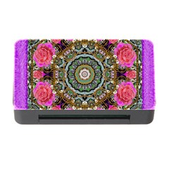 Roses In A Color Cascade Of Freedom And Peace Memory Card Reader With Cf by pepitasart