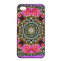 Roses In A Color Cascade Of Freedom And Peace Apple Iphone 4/4s Seamless Case (black) by pepitasart