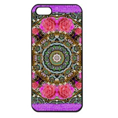 Roses In A Color Cascade Of Freedom And Peace Apple Iphone 5 Seamless Case (black) by pepitasart
